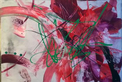 60 x 90 cm , 2015 , Acryl auf Leinwand , verkauft