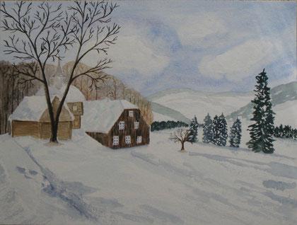 Häusergruppe im Winter 2013