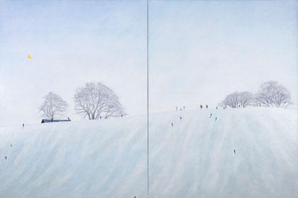 """Hexham, 48"""" x 72""""  / 寒克山木,122cmx183cm  2010"""