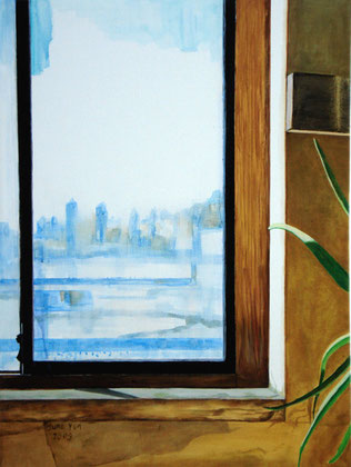 "William Clark 18""x24"" / 画室的窗  46 x 61cm, 2008"