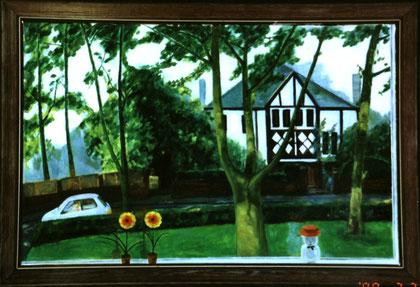 "Jesmond View 28""x36"" / 街诗芒地 71x 92 cm, 2000"