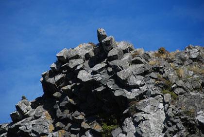 Perfectly formed basalt columns on Te Matiai o Okia