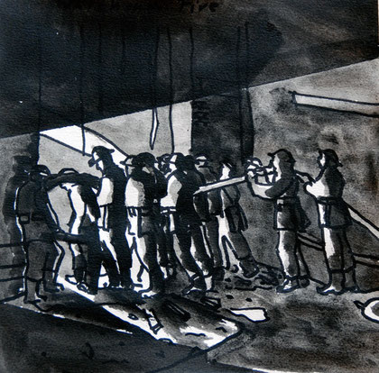 29/30 December 1941: Warehouse Fire, 2007 (Ink) (25x25)