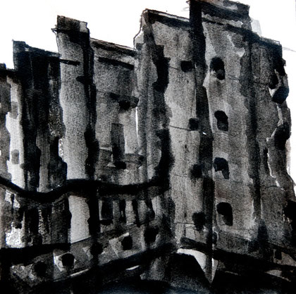 29/30 December 1941: Bombed Out, 2007 (Ink) (25x25)