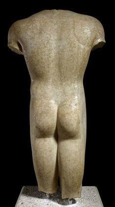 The Marion Kouros, found in the Necroplis at the ancient kingdom of Mario Arsinoe. Courtesy British Museum