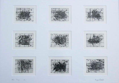 Nine Steps 2004 (Drypoint) (90x50)
