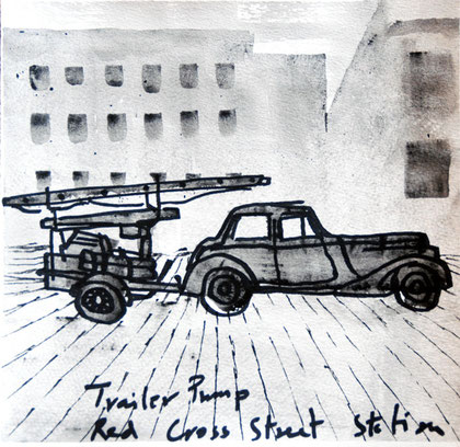 29/30 December 1941: Trailer Pump, 2007 (Ink) (25x25)
