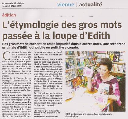 La Nouvelle République - 24 juin 2009 - Pascal Laurent