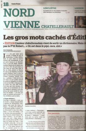 Centre Presse - 2 février 2009 - Alain Grimperelle (A scanner )
