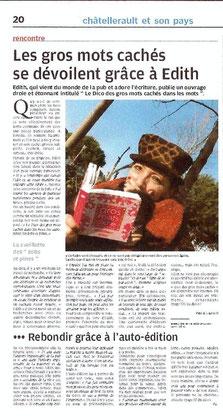 La Nouvelle République - 14 janvier 2009 - Pascal Laurent (A scanner)