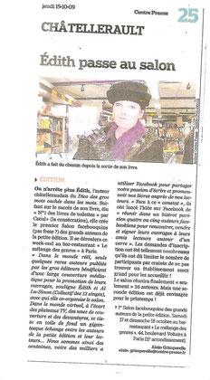Centre Presse - 15 octobre  2009 - Alain Grimperelle