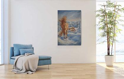 2021 Winteralpen, 40x60 cm, Öl auf Keilrahmen, 498,-