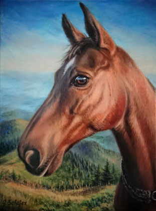 2018 Bestellung, verkauft, 30 x 40 cm, Acryl auf Keilrahmen, Preisbeispiel 349 €