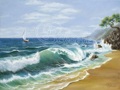 """Crimea - 60x80 cm /24""""x32"""" , Oil on canvas, art prints available 4,93 €"""