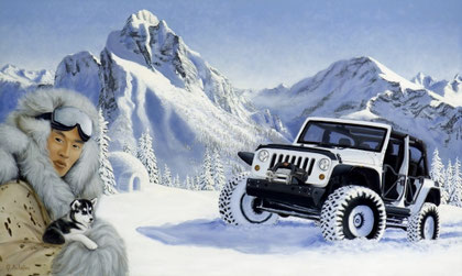 """Off-road,  60x100 / 24""""x39"""" cm, oil on canvas, Price example 499 €"""