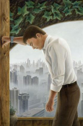 """Dejection (Matth.11-28) , 60x100 cm / 24""""x39"""", oil on canvas. Original 798€"""