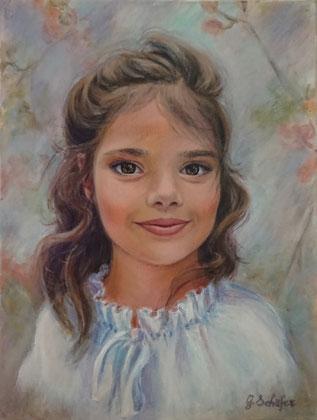 Mädel 2019 - 30 x 40 cm, Acrylic on canvas, price example 243 €