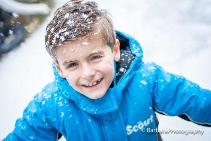 sneeuw in je gezicht