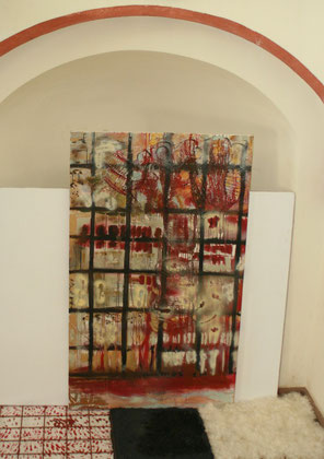 installation blood ashes hope, copyright Nathalie Arun 2013
