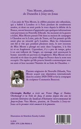 "4ème de couv. de Vera Moore, pianiste de C. Baillat (monotype ""Brancusi"")"