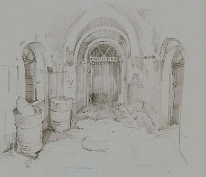 L' interno del Forte Mezzacapo - Edi Pezzetta