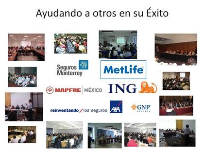 Compañias de Seguros Mexicanas e Internacionales, han recibido ayuda de nosotros.
