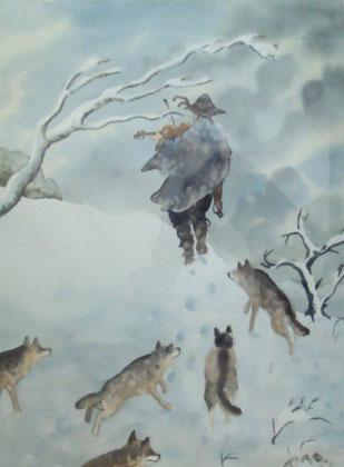 le violon des loups-50x70