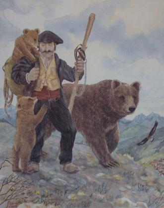 le montreur d'ours-50x65