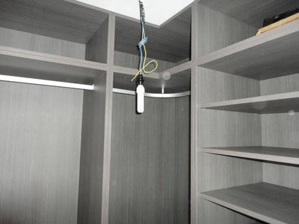 Vestidor 2 barra para colgar