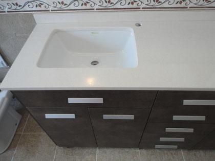Mueble baño oxido marron