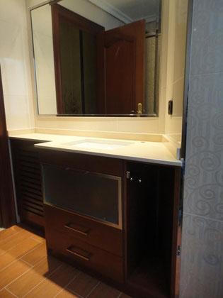Mueble de baño cerezo