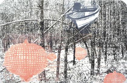 "Asta Rode ""Heimleuchtung"" Öl auf Leinwand, 65 x  95 cm, 2013"