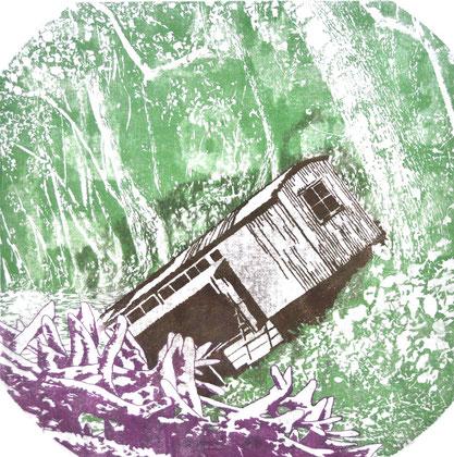 """Asta Rode """"Bienenhaus""""  Öl auf Leinwand, 85 x 85 cm, 2013"""