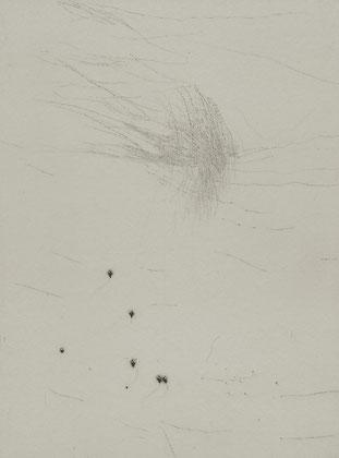 「水朝」銅版画 2014年