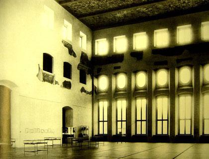 Der Goldene Saal nach dem vereinfachten Wiederaufbau, Foto um 1970