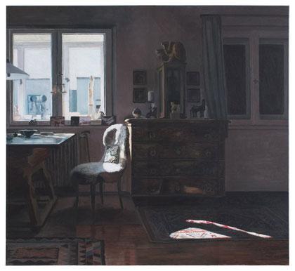 Gertruds Zimmer, 110 x 120 cm, Öl auf Baumwolle, 2013