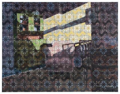 O.T., 120 x 155 cm, Öl auf Baumwolle, 2015
