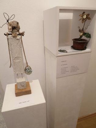 Objekte zur ..BLÜMCHEN unverblümt.. Ausstellung