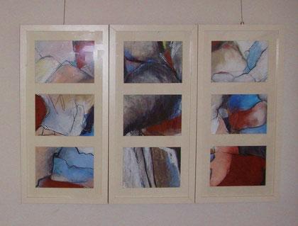 Ausstellung Varias 50x75 Mischtechnik