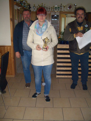 2. Platz bei den Frauen Alexandra Kühn mit 170 Ringen