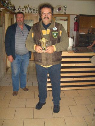 2. Platz bei den Männern Frank Hügelow mit 188 Ringen