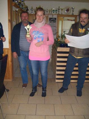 1. Platz bei den Frauen Janine Kowalski mit 172 Ringen