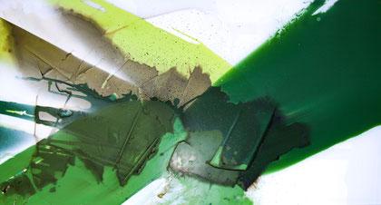 """""""The growth #3"""" / Öl und Bitumen auf Acrylglas / 59 x 110 cm  - € 390,-"""