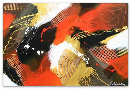 """Square"" Acryl auf Leinwand / 80 x 120 cm (verkauft)"