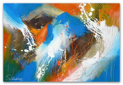 """4 elements"" Acryl auf Leinwand / 80 x 120 x 3,5 cm  € 550,-"