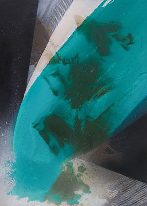 """""""The deep sea"""" / Öl und Bitumen auf Leinwand / 70 x 100 cm - € 420,-"""