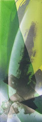 """""""Nature"""" / Öl und Bitumen auf Leinwand / 30 x 90 cm - 250,-"""