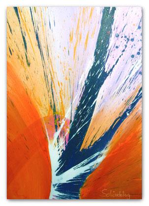 """""""Am Morgen"""" Acryl auf Leinwand 70 x 100 x 3,5 cm  € 350,-"""