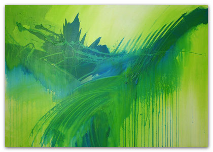 """Green Magic"" Acryl auf Leinwand / 70 x 100 x 3,5 cm  € 400,-"