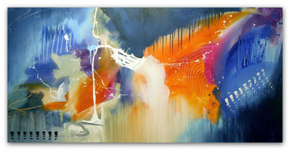 """""""End of Summer"""" Acryl auf Leinwand / 70 x 140 x 3,5 cm  (verkauft)"""